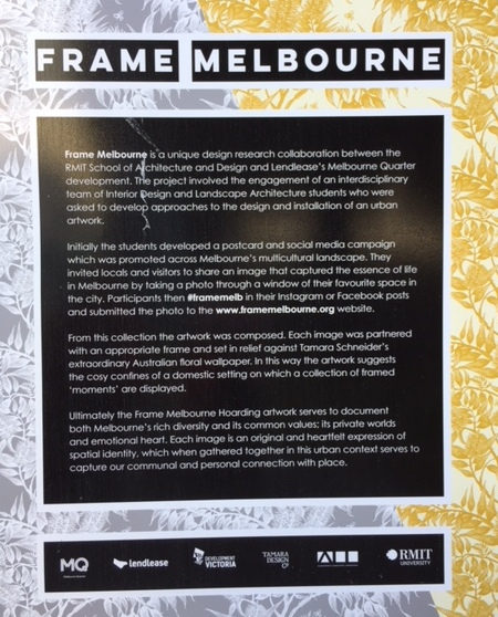 On The Way Back To The Station We Noticed An Outdoor Exhibition Of Melbourne In Frames Such Interesting Works And Perspectives